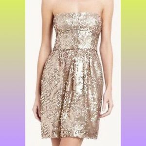 "❤️Host Pick❤️BCBG ""Carole"" Champagne Sequin Dress"